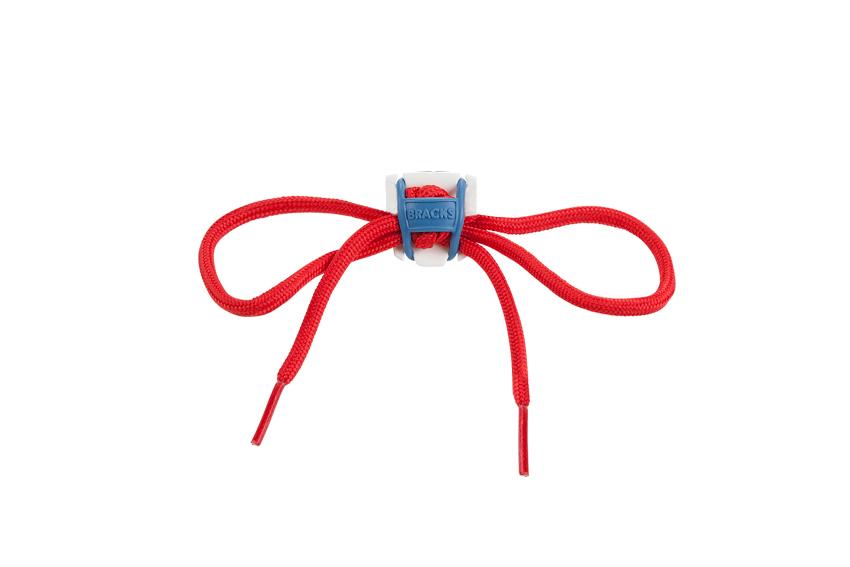 bracks white blue red lace